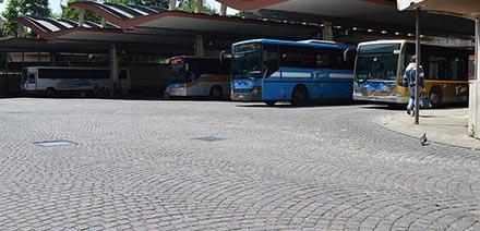 Realizzazione pavimentazione stazione delle corriere a Treviso