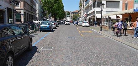 Realizzazione pavimentazione Via Cadorna a Treviso