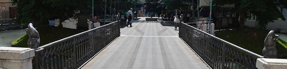 Realizzazione pavimentazione Isola della Pescheria a Treviso