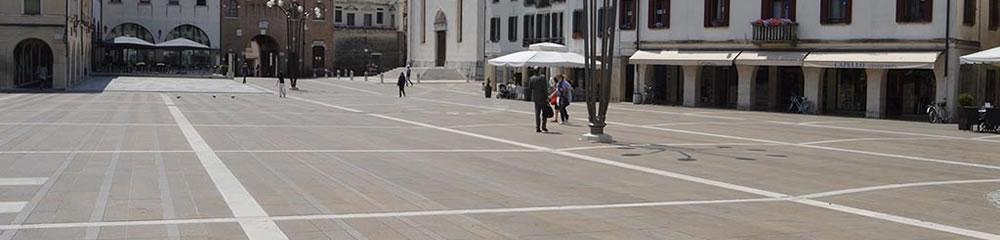 Realizzazione pavimentazione piazza a Oderzo