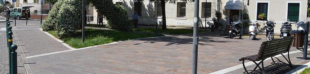 Realizzazione pavimentazione Piazza Trentin a Treviso